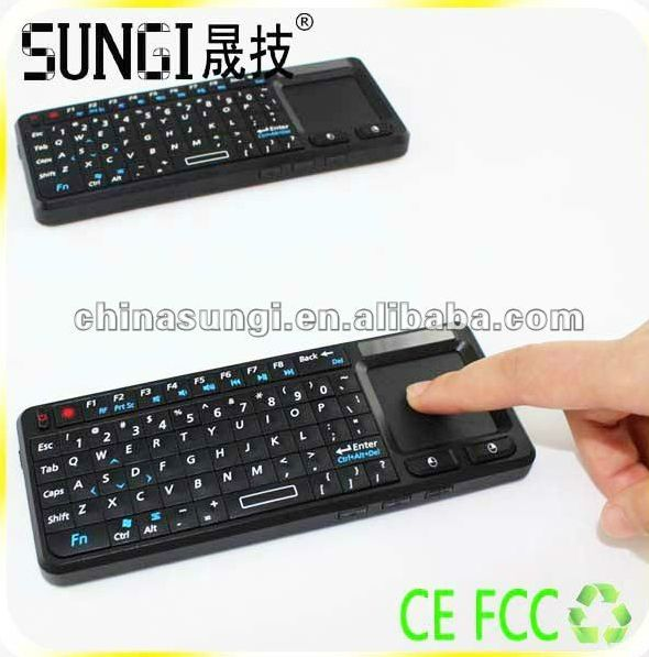 Multimedia Handheld 2.4GHz Wireless Mini Keyboard with touchpad&laser pointer