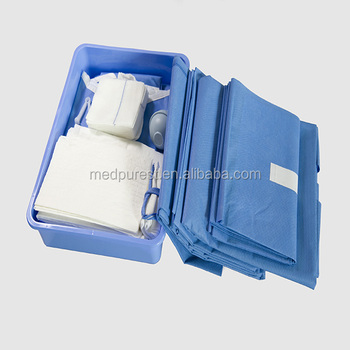 Disposable C-section Surgical Drape Kit,Surgical Caesaran Drape Pack