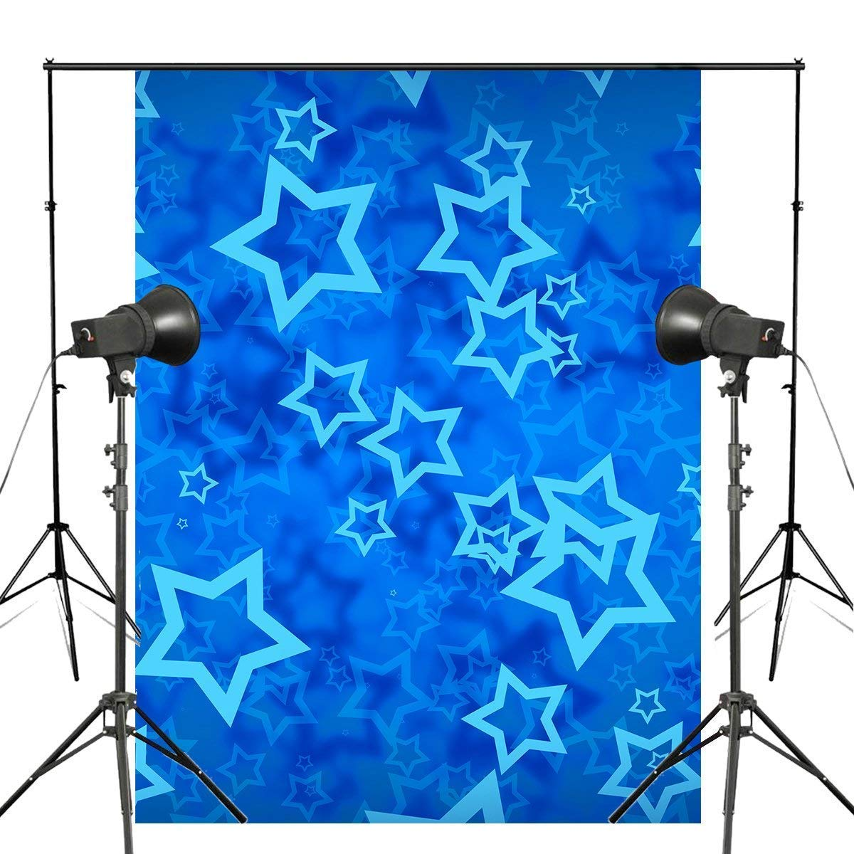 ERTIANANG Exquisite Navy Blue Star Five-Pointed Star Background Kids Photo Studio Backdrop Wall 5x7ft Bedroom Backdrop