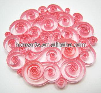 Papier Fabrication De Fleurs Rose Papier Quilling Buy Fleurs En