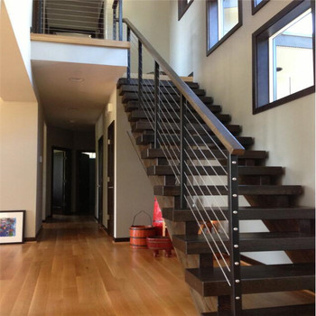 Prefab Stainless Steel Railing Internal Stairs For Residential
