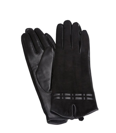 2016 New women's genuine leather and suede winter gloves nappa lambskin