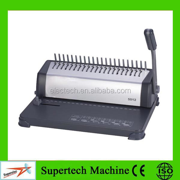 For Office Use Single Handle Manual Comb plastic Stapling Machine
