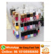 black opal makeup organizer acrylic rotatable nail polish display organizer with sliding drawer