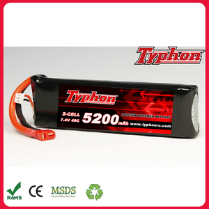 5200mAh 7.4V 2S 40C Lipo RC Battery for RC Airplane Helicopter Car Boat