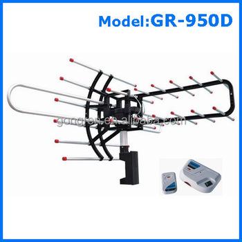 Hot Sale Tv Remote Controlled Rotating Long Rang Outdoor Tv Antenna