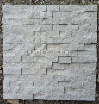 White Stone Exterior exterior wall white stone mosaic tile,split face white beige wall