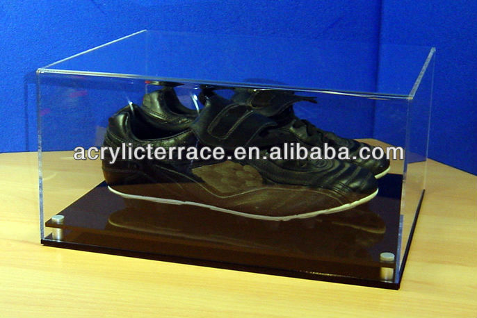 Contemporary Football Display Case with Black Base