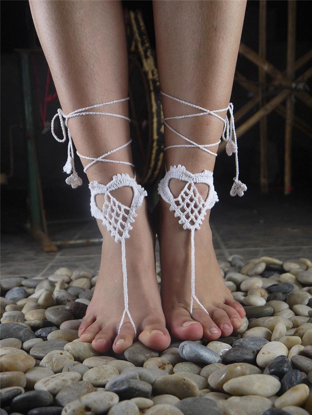 3fade37c741705 Buy White Wedding Barefoot Sandals