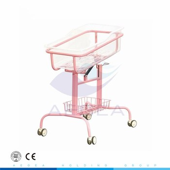 AG-CB009 medical adjustable movable clear plastic healthcare bassinet cart