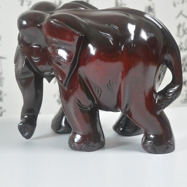 Animal Carving Home Office Furnishing Articles Arts And Crafts Sculpture Ornaments Decor Feng Shui Carved Wooden Elephant