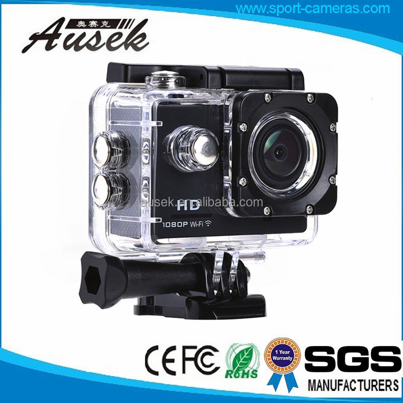 12MP Image resolution 2.0 inch full hd 1080p wifi go pro style video camera for outdoor sports