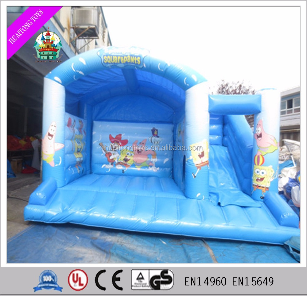 Outdoor safe colorful inflatable bouncer slide minions bouncy houses for sale