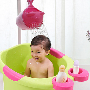 New design baby shampoo Cup / Shower Spoon water cup / child baby bath rinse cup for kids