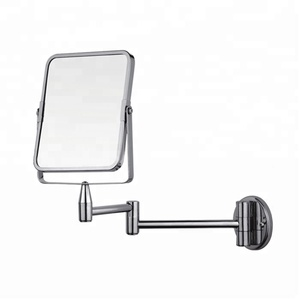 Bathroom Decorative Two Face Round Magnifying Hinged Wall Mount Dressing Makeup Mirror