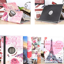 Print Tablet PC protective 360 Rotating for 9.7 inch Apple iPad air 2 desk  stand holder folding folio case cover