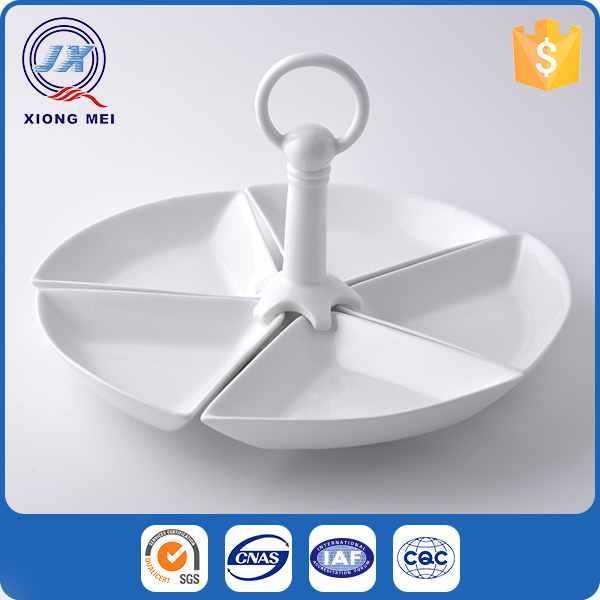 Durable food serving plates ceramic dishes set for restaurant