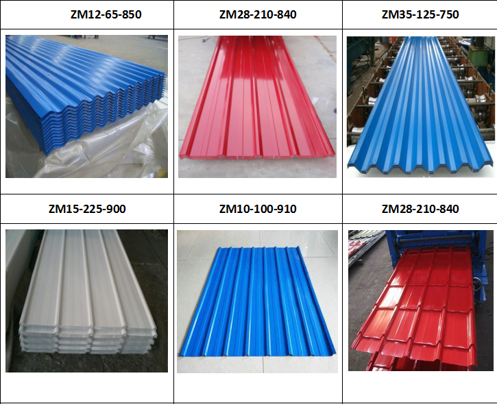 color glazed steel sheet roofing step tile