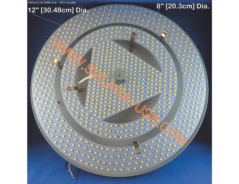 SOLARA-USA a SET of LED Circlines T9 8-inch & T9 12-inch - 120Vac 33Watts 7500Lumens - NON-DIMMABLE. P/N: SPTL392LR/SPTL448LRM (WARM WHITE [4000K])