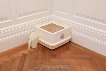 catidea top entry corner cat litter box