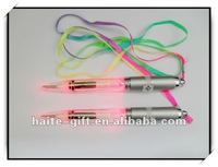Culorful ball pen with string