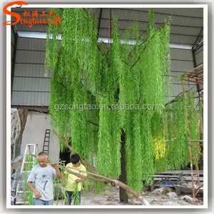 artificial glass lighting tree christmas tree lighted fiberglass willow tree for decoration