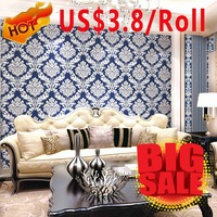 Washable thick vinyl indian real 3d wallpaper