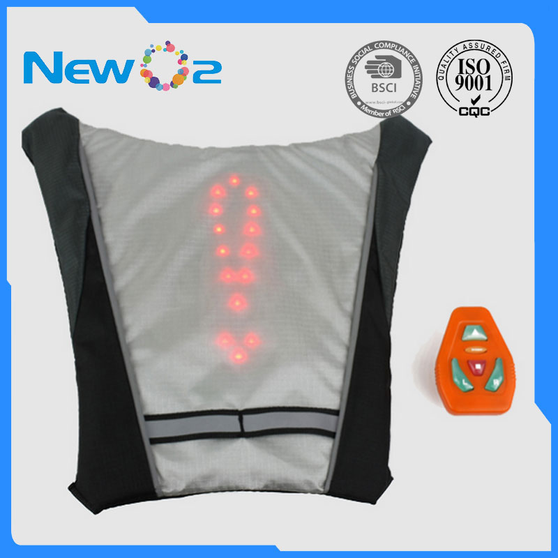 Cycling Led Wireless Cycling Vest Safety Led Turn Signal Light Bike Bag Safety Turn Signal Light Vest Bicycle Reflective Warning Vests Terrific Value Bicycle Light