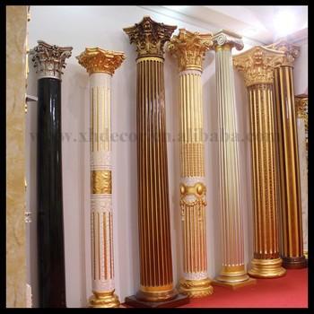 Frp decoration roman column pillar not gypsum roman column for Where to buy columns for house