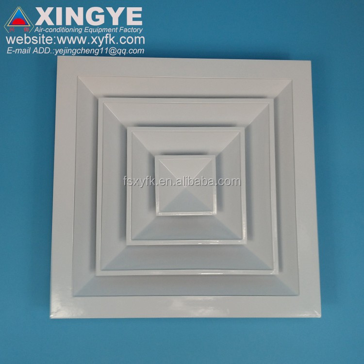 4 way square air vent aluminum ceiling diffuser with obd ceiling 4 way diffuser
