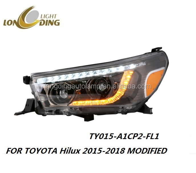 LONGDING OEM ODM High Quality LED headlight for TOYOTA Hilux 2015-up modified head light