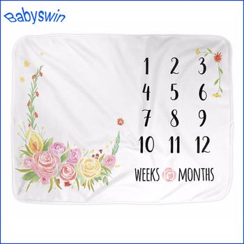 07c44f79e Personalized Soft Fleece Monthly Baby Milestone Blanket - Buy ...