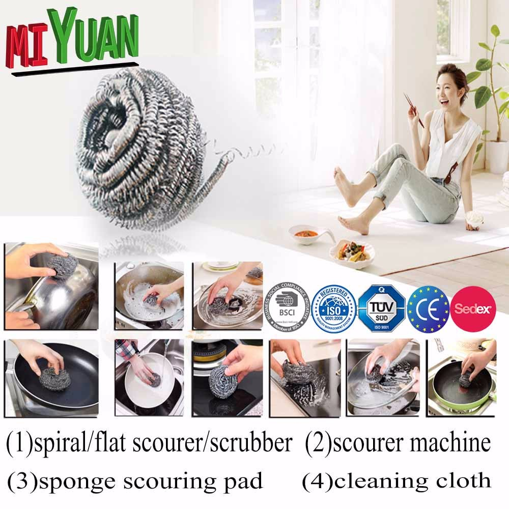 unique sigle wire maked scourer/China set of5-100g/Galvanized Mesh Ball/stainless steel scourer