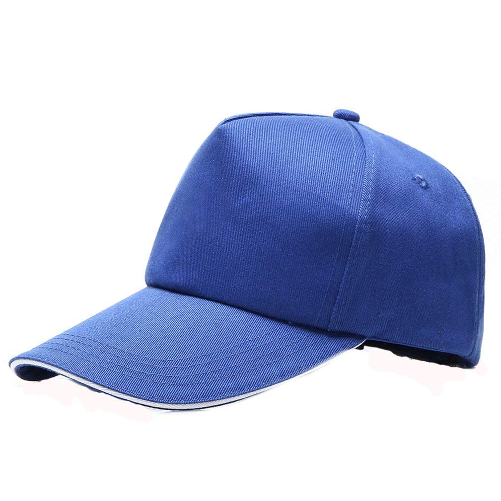ZX101 Unisex Denim Baseball Cap Hat Casual Men Women Adjustable Baseball Cap Outdoor Sports Solid Color Visor Hat