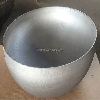 GLM Made in China high quality pipe end cover hemisphere torispherical dished head stainless steel water tank dish