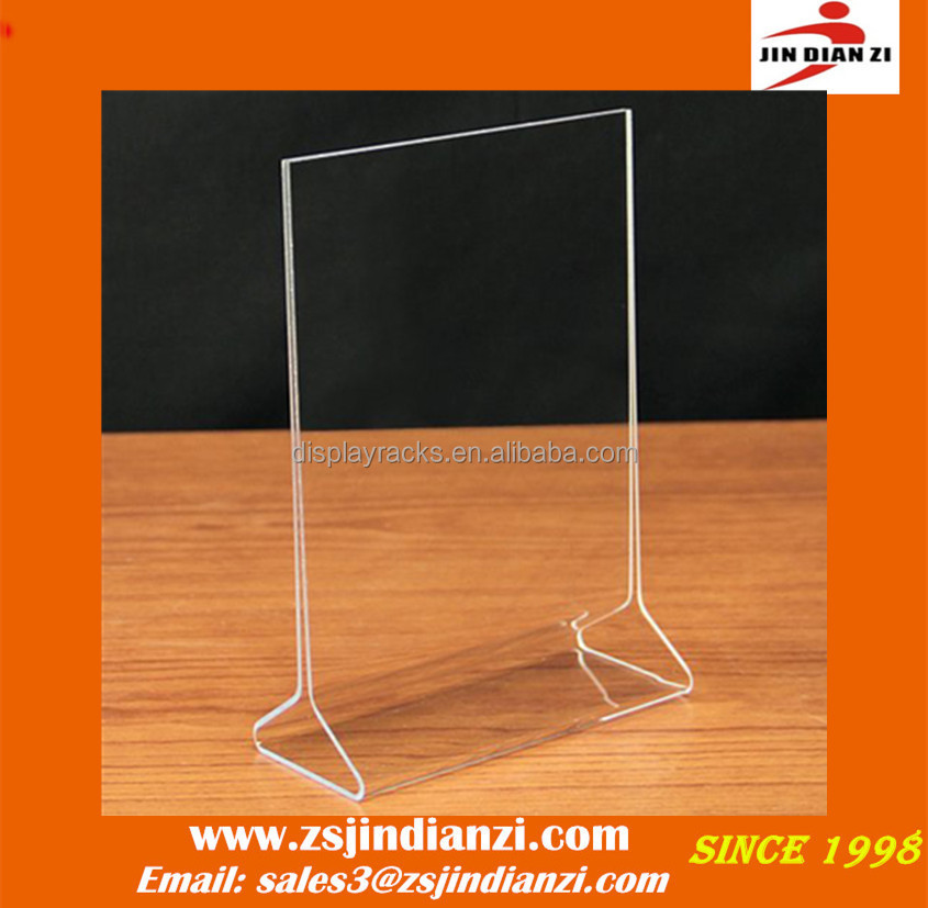 acrylic sign holder 5x7, 5x7 acrylic sign holder, acrylic brochure tent card business card holder