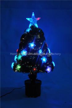 Nieuwe Ontwerp Bloem Versierd Glasvezel Kerstboom,Kleur Verlichting ...