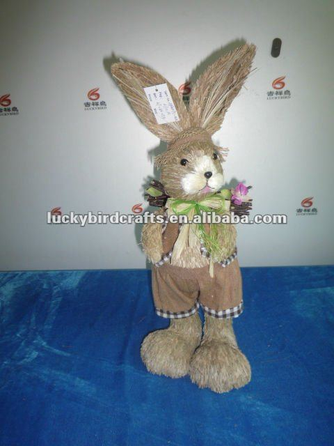 new easter grass rabbit/bunny carried the wood /standing/supplier