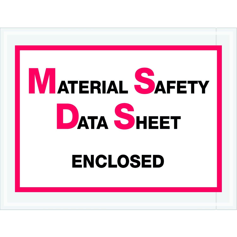"Tape Logic TLPL99 Material Safety Data Sheet Enclosed Envelopes, 6 1/2"" x 5"", Red/Black (Pack of 1000)"
