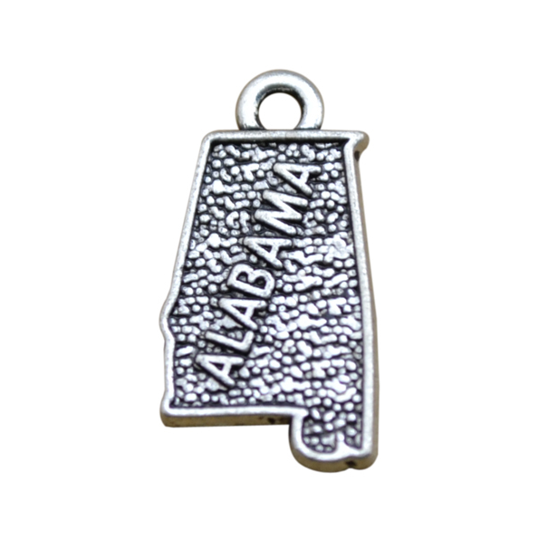 Free Shipping DIY Custom Jewelry Map Series Zinc Alloy Antique Silver Plated Alabama State Pendant <strong>Charms</strong> for Necklace Making