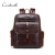 designer vintage leather backpack genuine