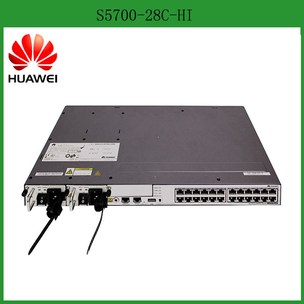 China Supplier 10G/40G Uplink Ports Gigabit Enterprise Network Switch Huawei S5700-28C-HI