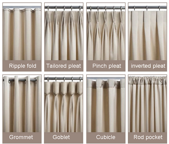 JR949 Wholesale Curtain Rod Accessories BSCI & OKTEX 100% Polyester Blackout Curtain