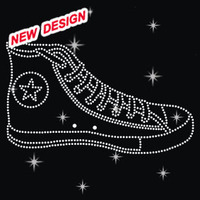 Colorful Plimsolls Shoes Rhinestone Motif Design for Clothing R 1 (93)