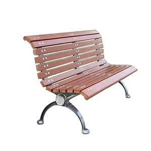 outdoor aluminum alloy wood park garden bench slats garden chair
