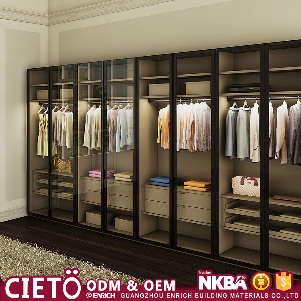 bedroom cabinet suits rta furniture Factory Modern Design Plywood MDF wardrobe walk in closet organizers