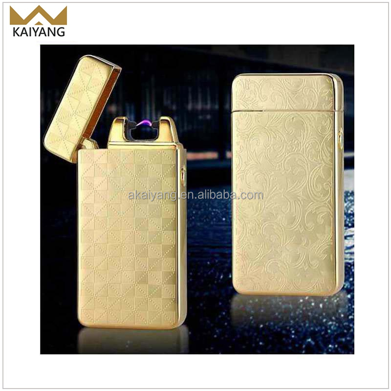 Cigarette pulse electronic Logo Arc usb lighter rechargeable