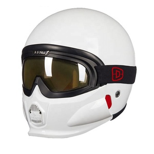 ECE22.05 approved open face helmet with goggle and mask