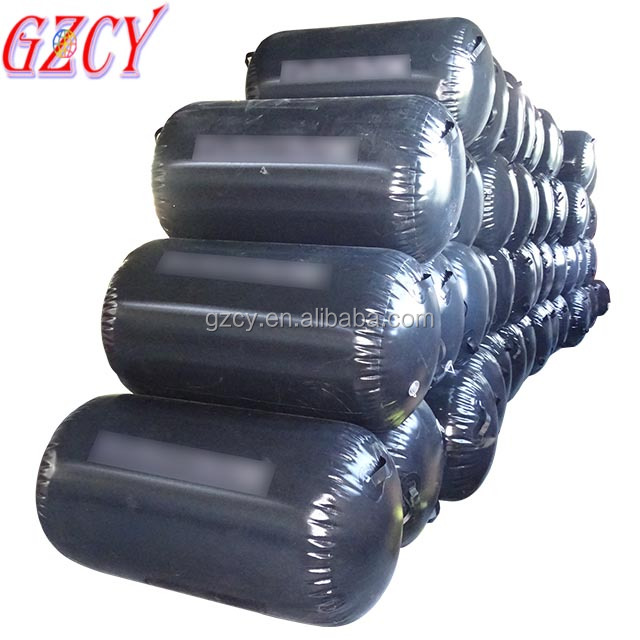 Factory inflatable Gym air rolls, round air barrels, plastic air pillar for gymnastics