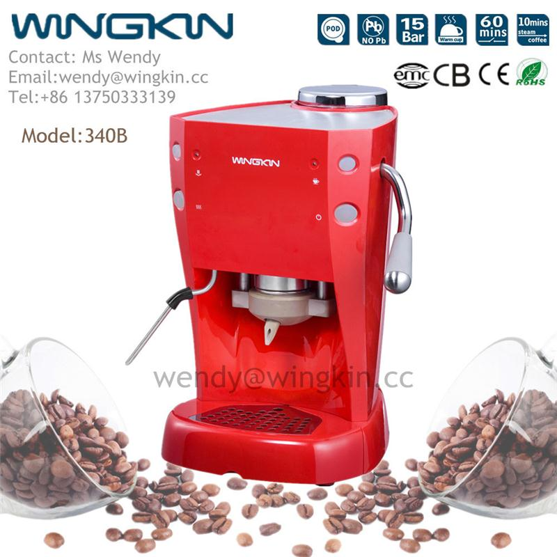 Elegant Thai CCC coffee cup warming 110-120V Italian pump capsule hot water battery operated coffee maker with high quality